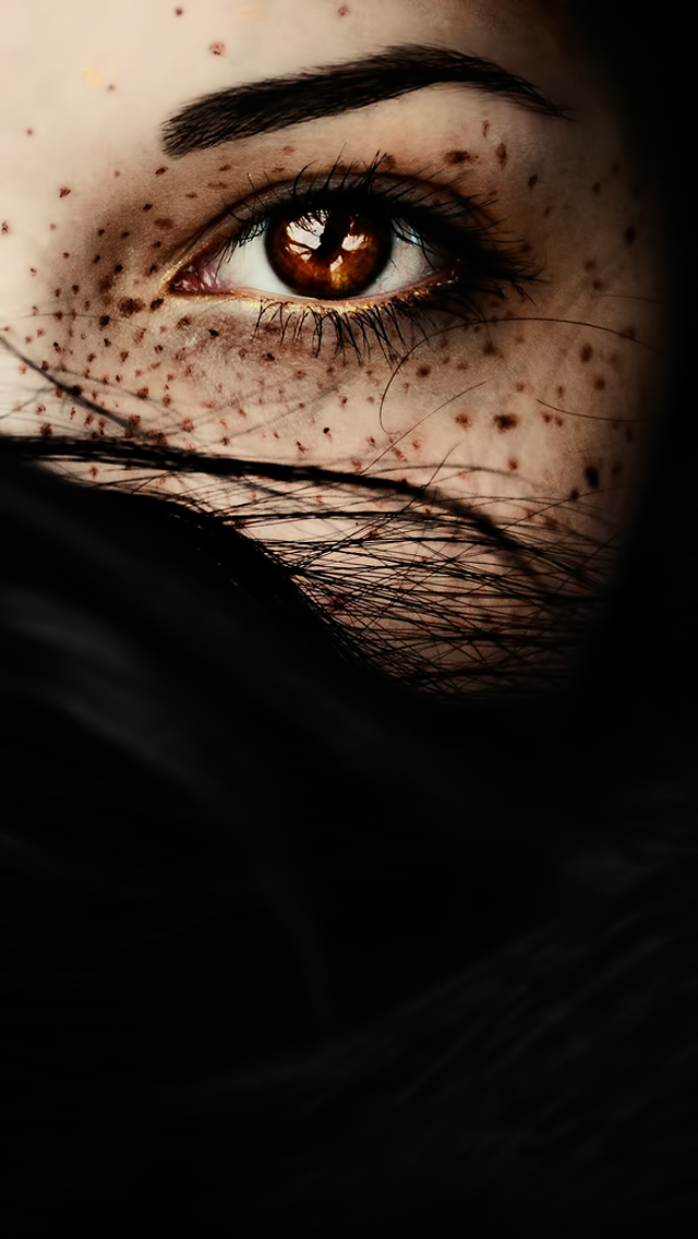 misterious woman brown eye closeup iphone 5 wallpaper iphone