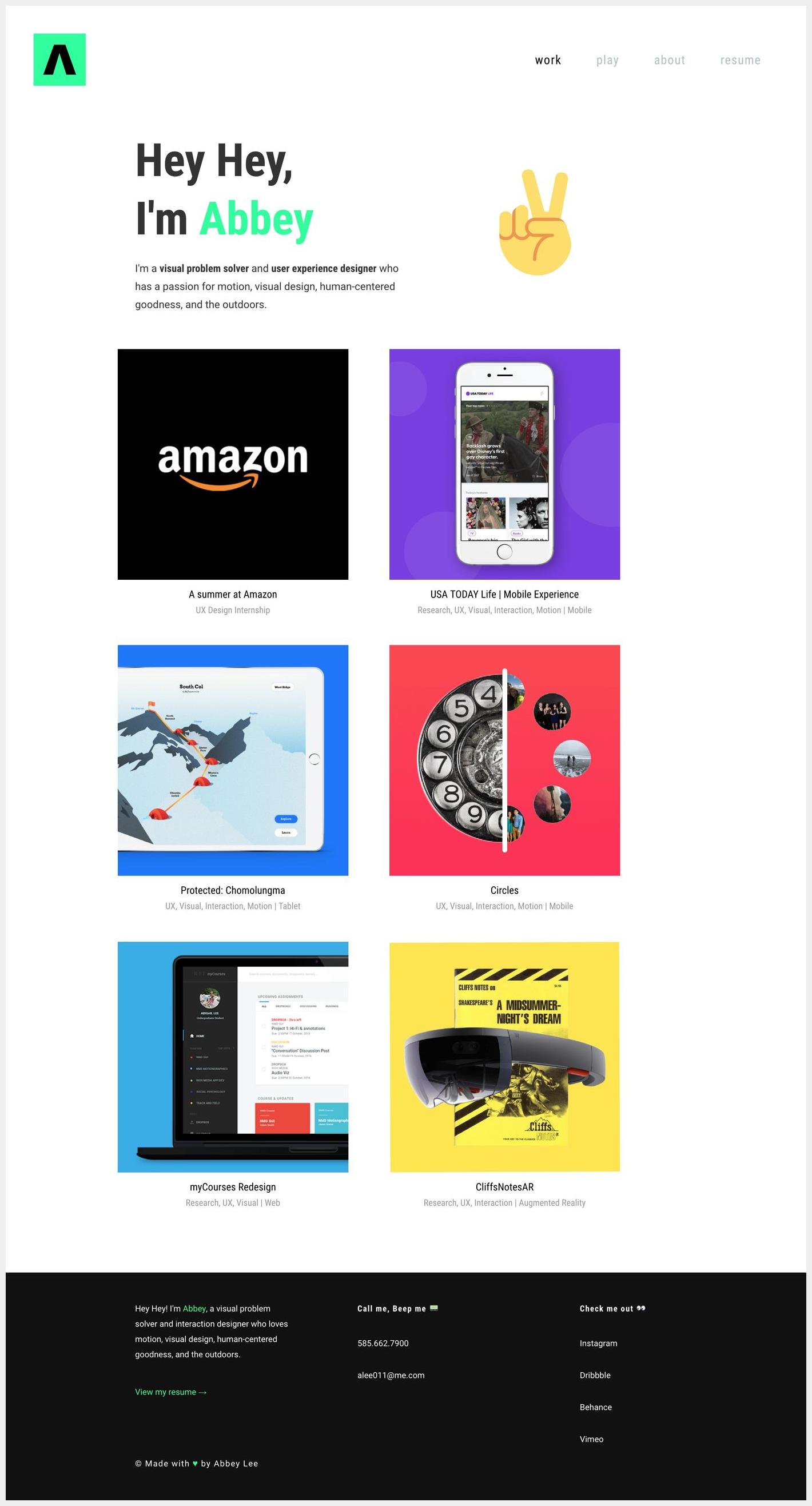 6 Awesome Portfolio Websites By Amazon Designers In 2020 Portfolio Web Design Portfolio Website Portfolio Website Inspiration