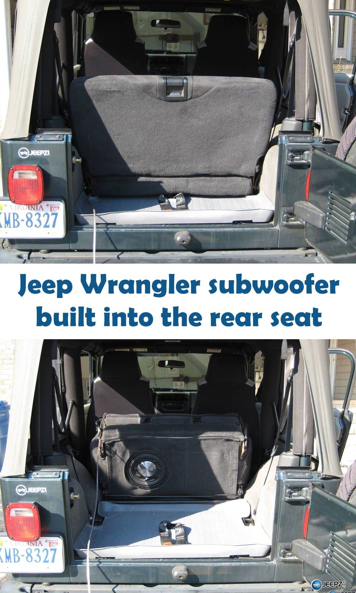 2976282710f Build a subwoofer enclosure into the backseat of your Jeep Wrangler with  this how-to article. You'll get tons of bass without giving up any space.