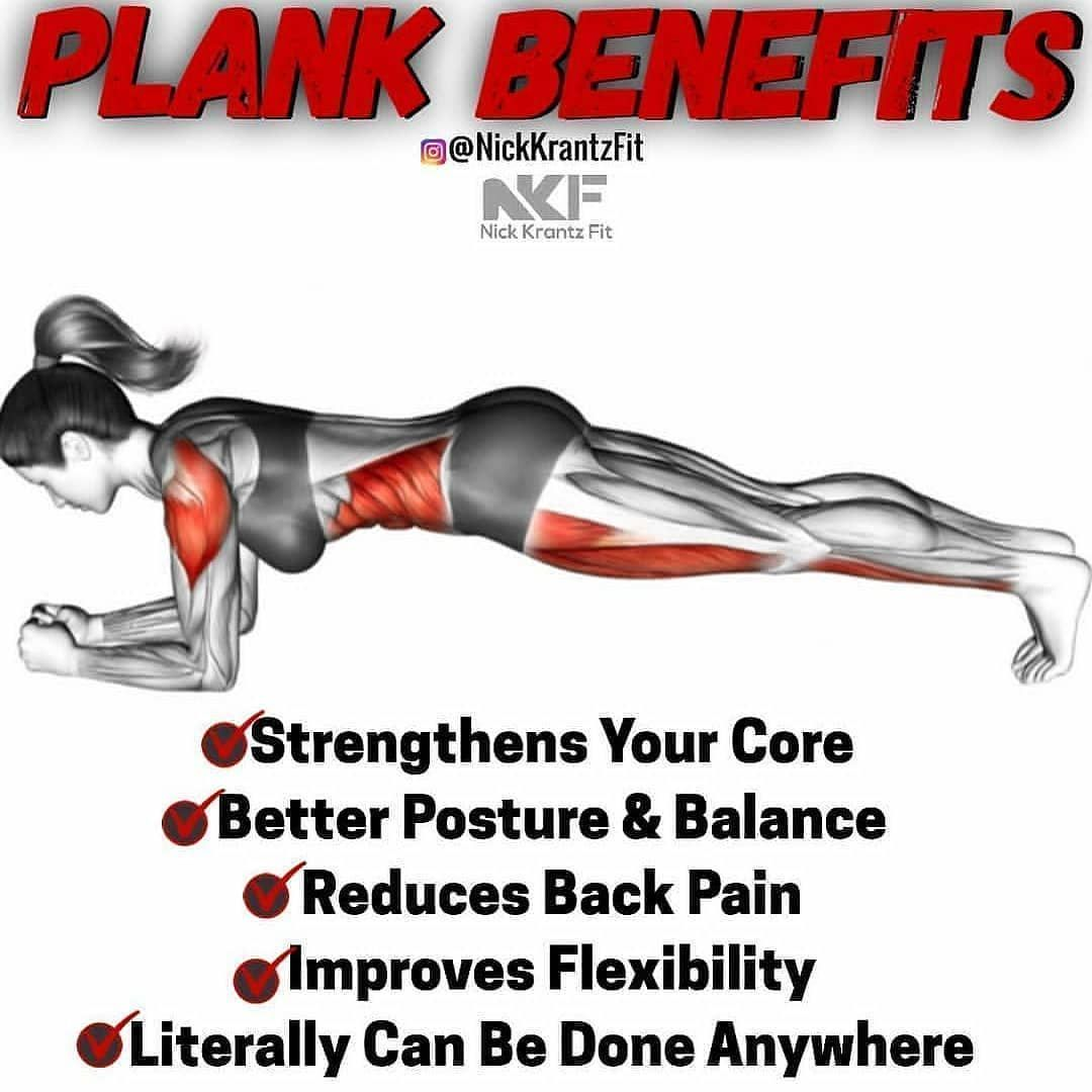 Fitness facts image by nadia on plank challenge daily