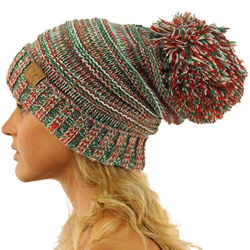 70b9fc725f684 New CC Oversized Super Big Slouchy Pom Pom Warm Chunky Stretchy Knit Beanie  Hat. Christmas