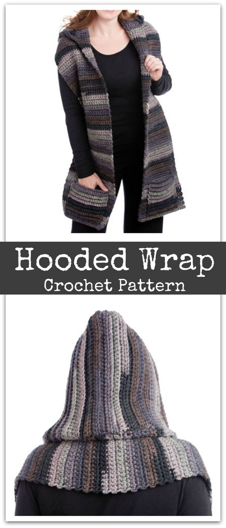 Hooded Wrap Crochet Pattern - You can easily make this hooded scarf ...