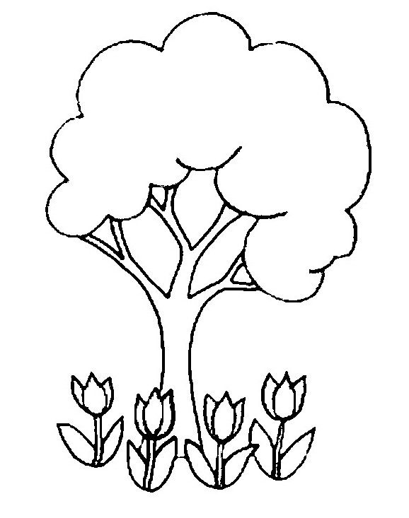 dibujos primavera4 | dibujos temáticos para colorear | Pinterest ...