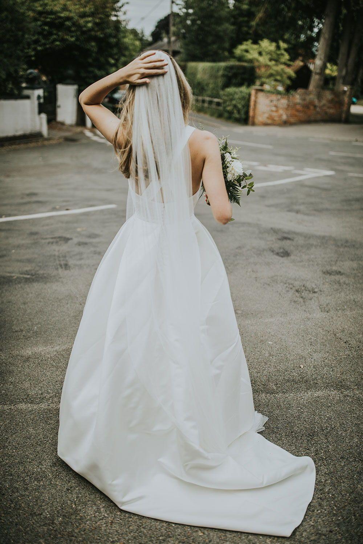 Charlotte In Custom Jesus Peiro For A Wedding At Home In Farnham Miss Bush Lace Dress Boho Custom Wedding Dress Wedding Dresses [ 1500 x 1000 Pixel ]