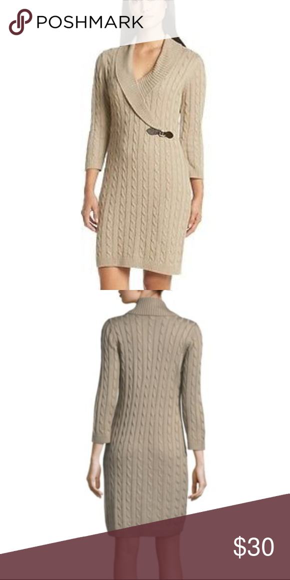 Picks In Nwt 2018My Klein Sweater Posh Buckle Front Dress Calvin JFKc1l