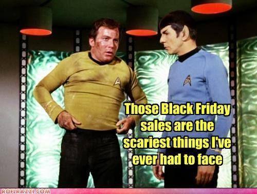 Kirk when shopping on black friday