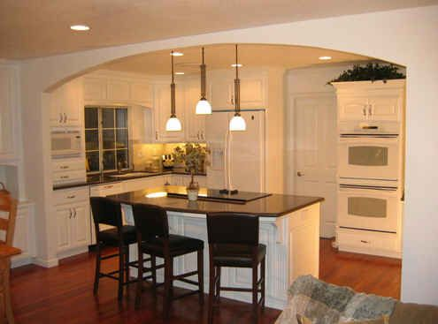 White Kitchen Remodel Before And After before & after: dramatic kitchen remodels | load bearing wall