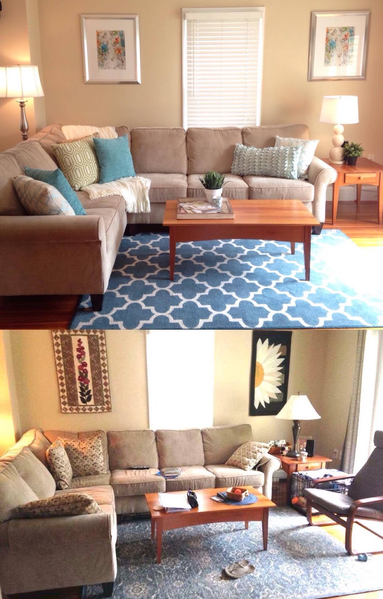 Living Room Staging Living Room Before And After Home Staging Homestaging