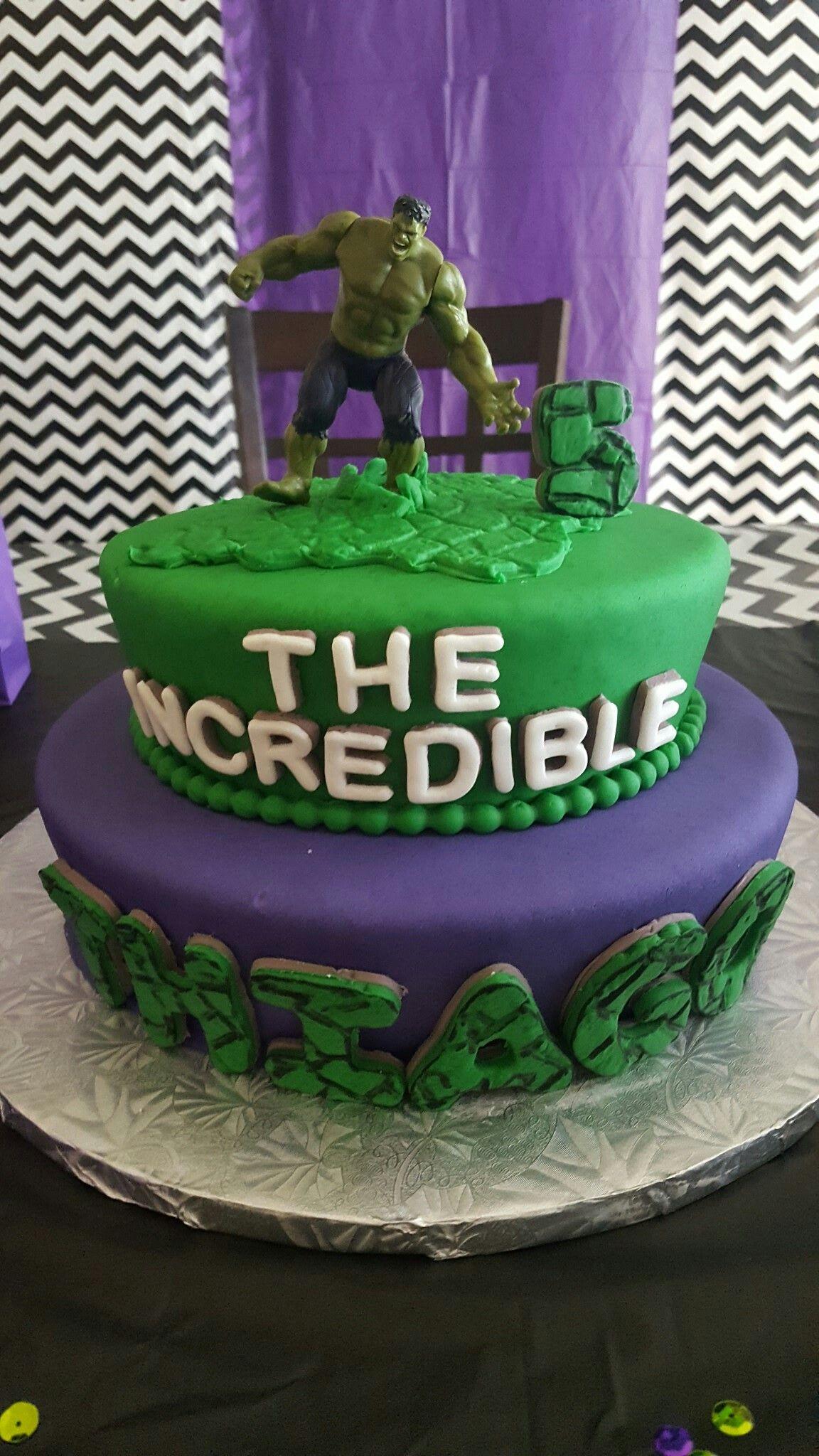 Hulk Birthday Cake Hulk Smash Birthday Party Pinterest