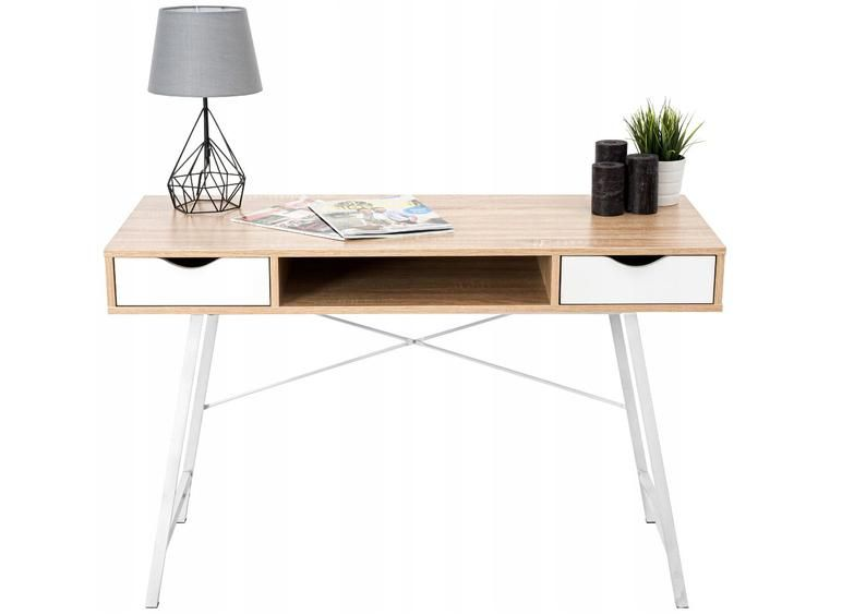 This Desk Has Been Inspired By Mid Century Modern Scandinavian Design We Aimed To Develop A Piece Of Furniture That Oak Desk Modern Oak Desk Scandinavian Desk