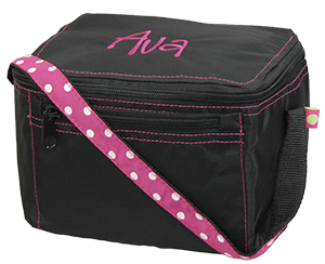 Laura Louise Designs - Black/Pink Dot Lunchbox by Mint, $15.00 (http://www.laura-louise.com/black-pink-dot-lunchbox-by-mint/)