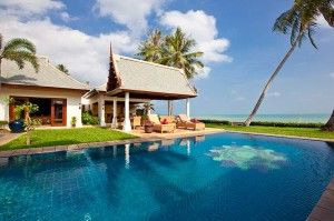 A Beautiful Villa In Mae Nam Beach Is The Lotus Located On One Of