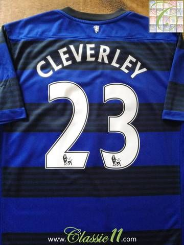 a1d6adc9283 Official Nike Manchester United away football shirt from the 2011 12  season. Complete with Cleverley  23 on the back of the shirt in Premier  League ...