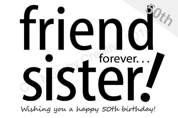 DOWNLOAD Sister 50th Birthday Turning 50 Milestone Birthda