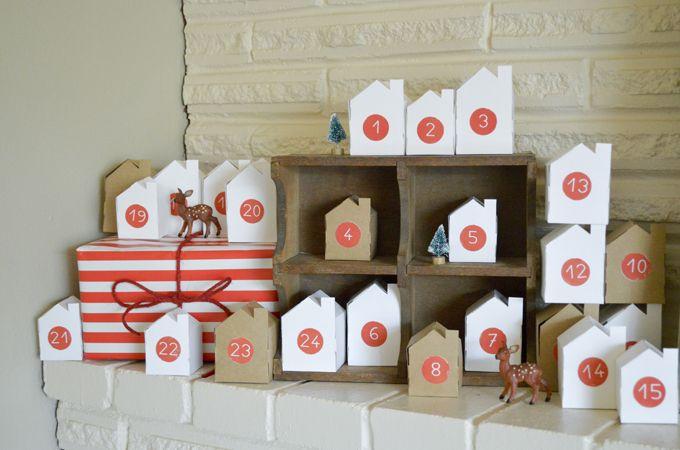 Swoon! Handmade Christmas Little Village Advent Calendar