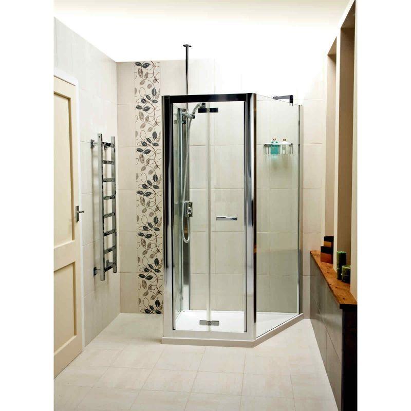 Ordinaire Space Saving Shower Enclosure: Roman Embrace Trapezium. Bi Fold Shower  Doors From UK