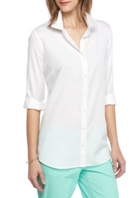Crown  Ivy  White Side Button Shirt