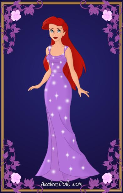azalea s dolls ariel ariel purple dress by kawaiibrit