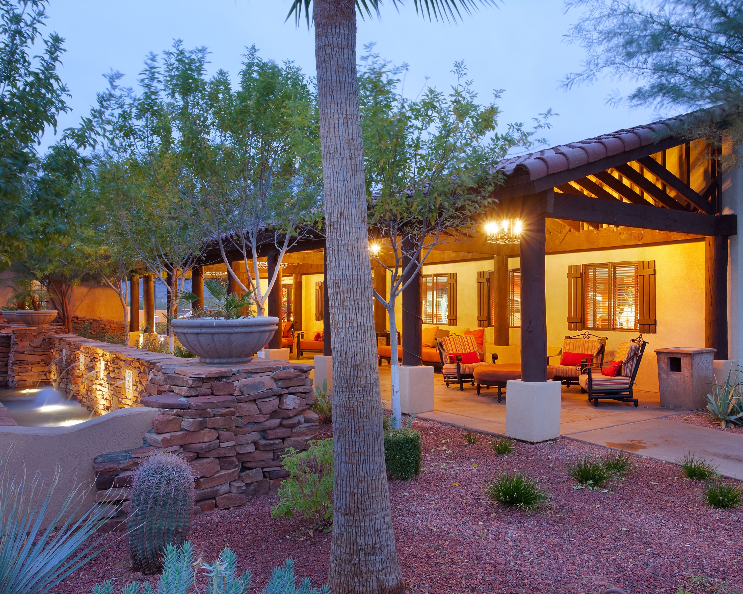 Enjoy the Arizona sunset on the stunning grounds of