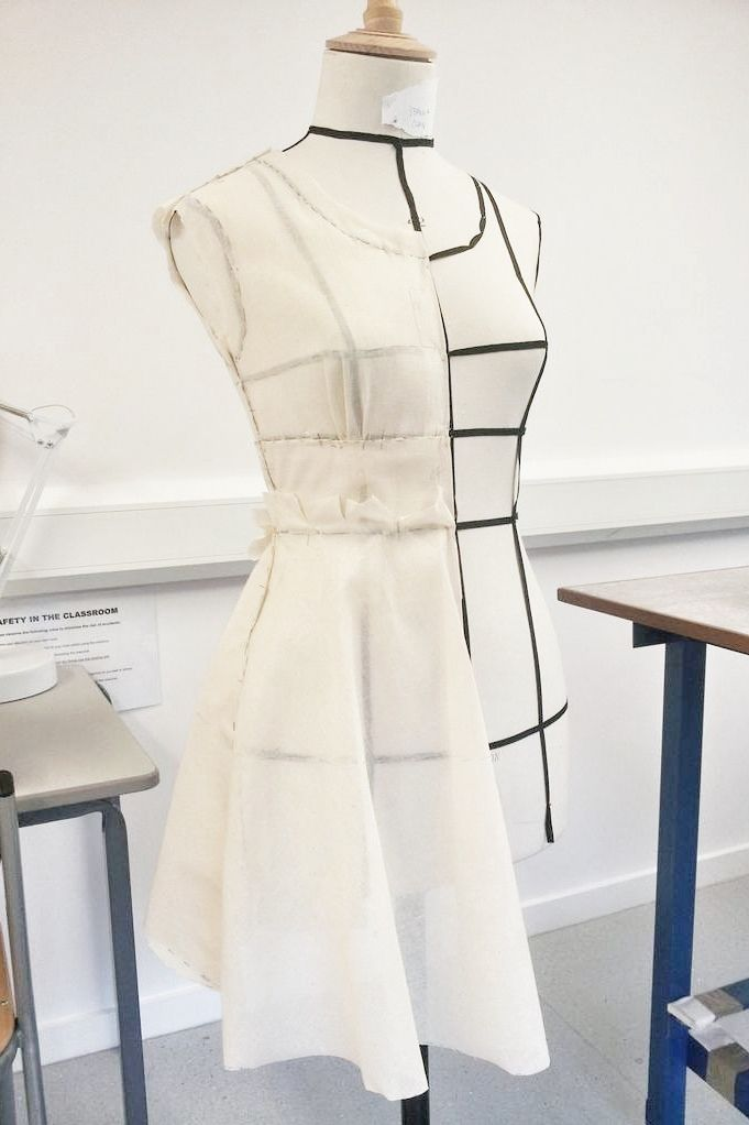 Draping On Dress Form More