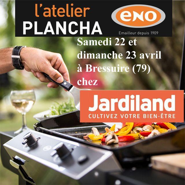 Atelier Plancha ENO samedi 22 et dimanche 23 avril chez @jardiland  à Bressuire (79) - Cours de cuisine à la plancha avec un chef pour apprendre à cuisiner sur la Plancha ENO. Conseils et astuces de cuisson et de nettoyage. Cours de cuisine sur réservation auprès du magasin au 05 49 81 87 33
