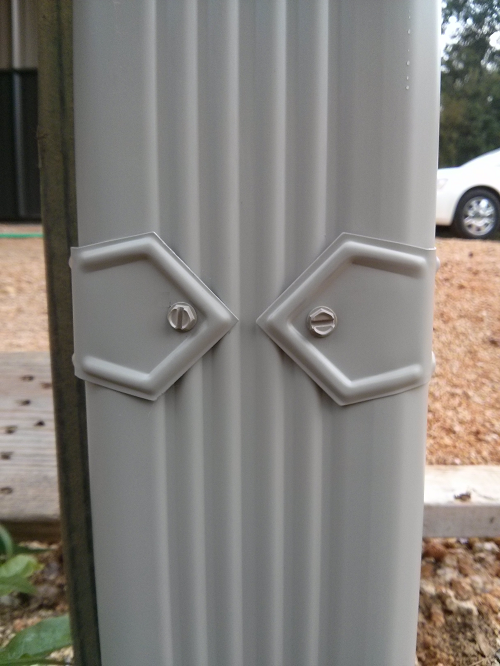 Diamond Bands On 3x4 Downspouts Downspout Seamless Gutters Trash Can