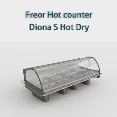 ثلاجات عرض سخن بان ماريه لحفظ الأطباق المطبوخة دافئة سطح الشاشة على نطاق واسع للحصول على رؤية أفضل الأسطح من الفول Display Refrigerator Supermarket Dish Soap