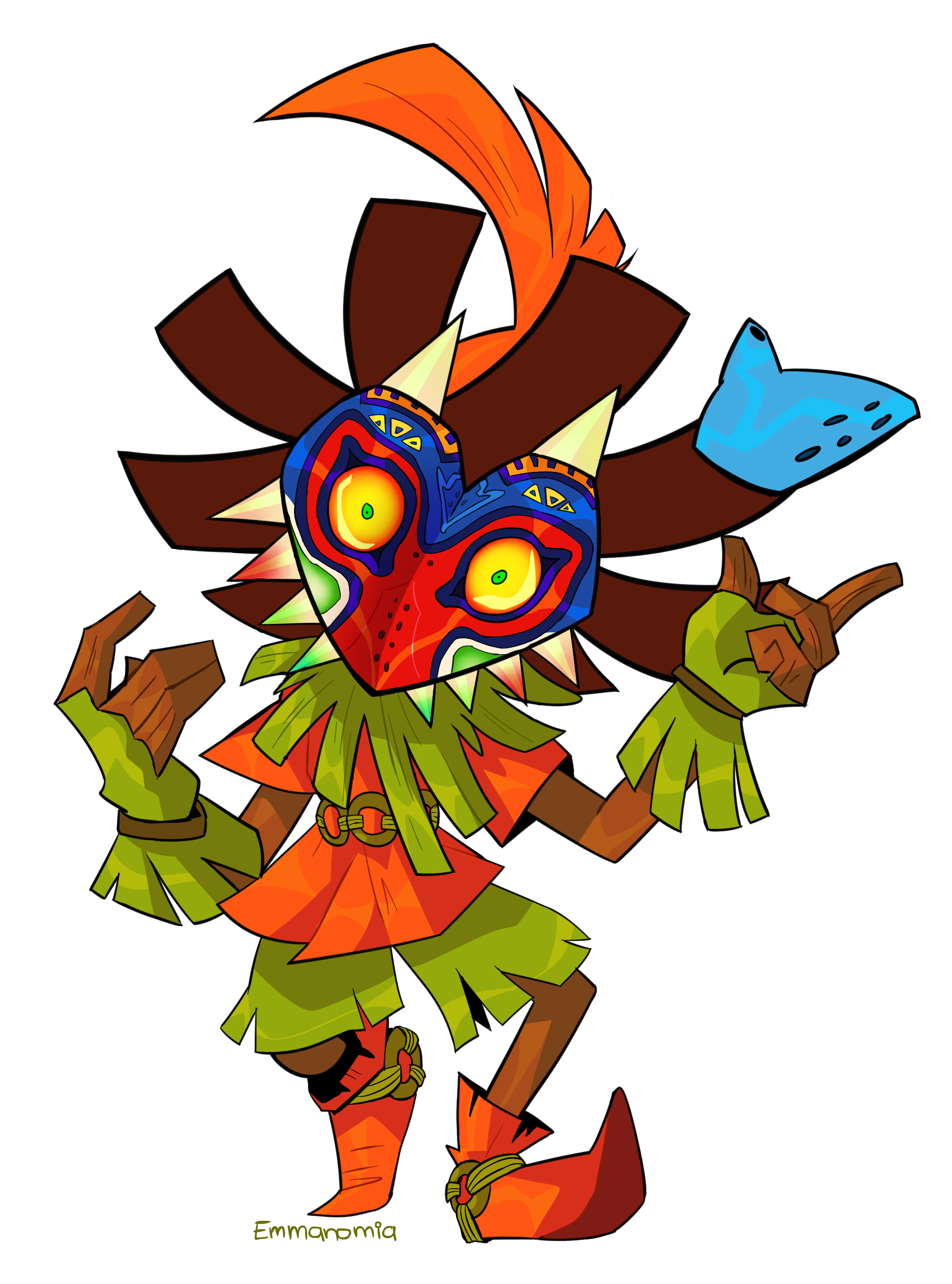 Legend Of Zelda Majora S Mask Art Skull Kid By Emmaekisde Visit Blazezelda Tumblr Com Majoras Mask Art Majoras Mask Skull Kid Majoras Mask