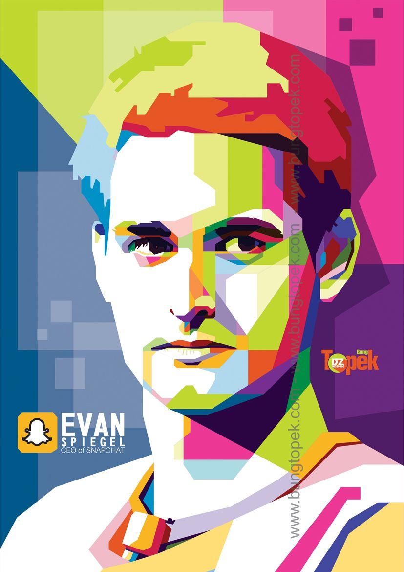 WPAP Evan Spiegel WPAP FIGURE Pinterest