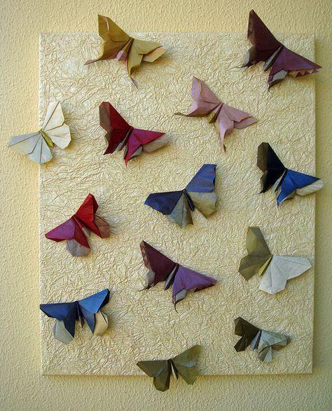 Origami Butterflies, by Michael LaFosse,  #Butterflies #LaFosse #Michael #origami #Origamibutterfly