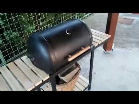 DIY Barbecue   Homemade Grill   Old Hot Water Boiler   YouTube