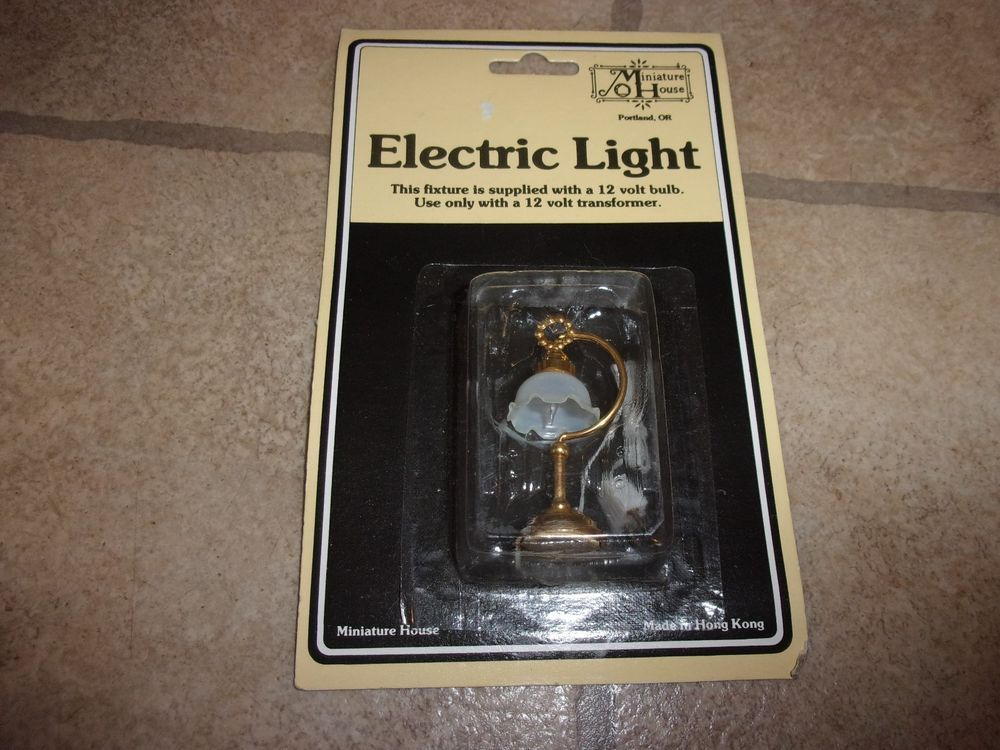 Miniature House 12 Volt 1 12 Scale Dollhouse Electric Light Lamp New Miniaturehouse Miniature House Lamps For Sale Electric Lighter