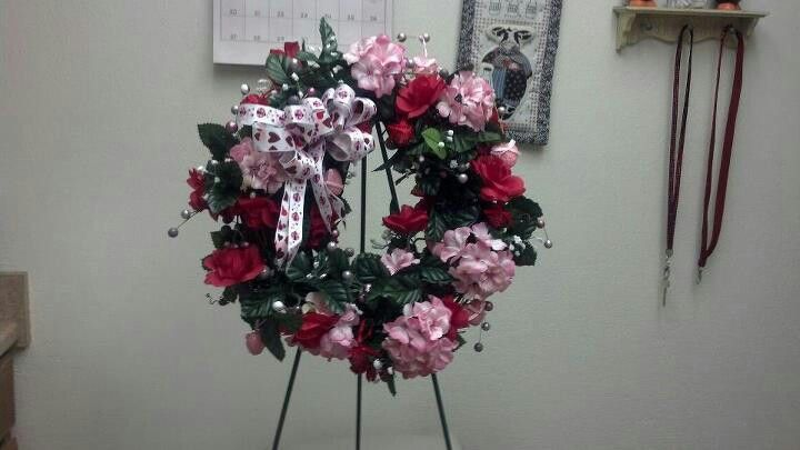 A Valentine's day wreath I made for a close friend.