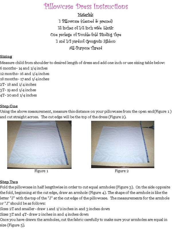 How to make a pillow case dress...can\'t wait to make these for the ...