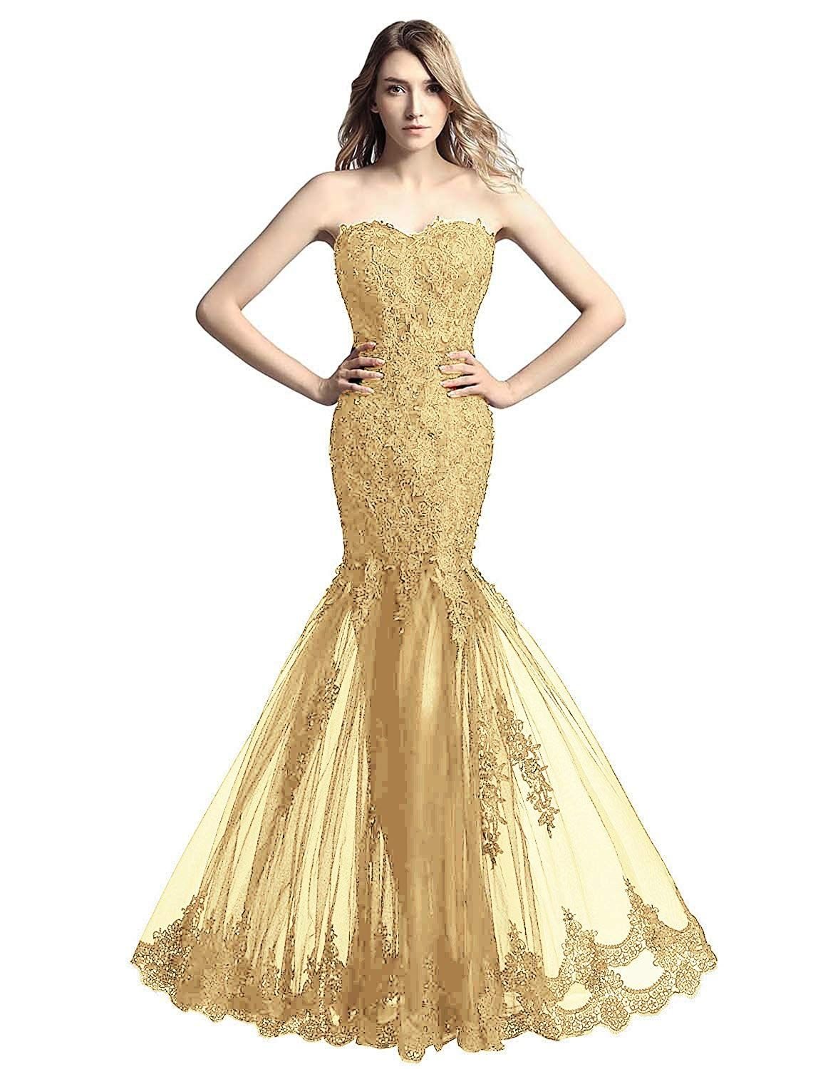 eddda2051c Amazon.com  Belle House Women s Long Tulle Strapless Ball Gown Lace Formal  Evening Dresses  Clothing