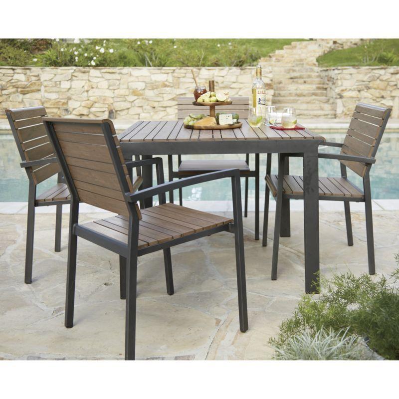Rocha Dining Chair With Sunbrella Cushion Outdoor Dining Furniture Outdoor Furniture Collections Outdoor Stools