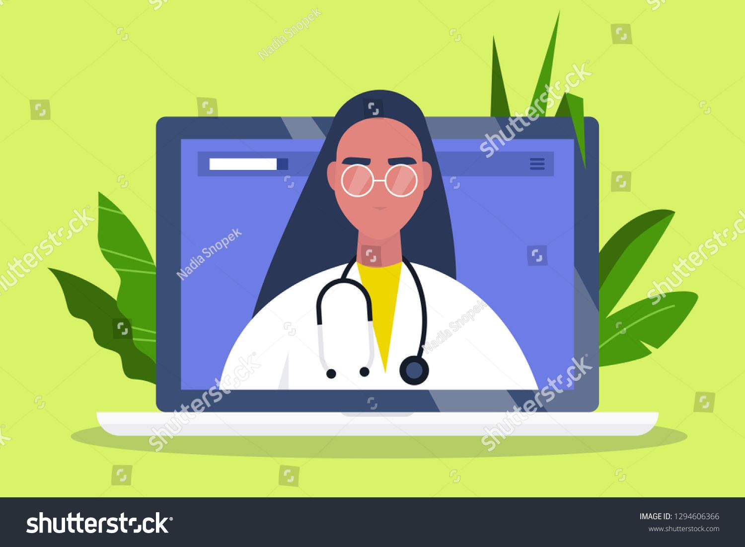 Doctor Appointment Online Consultation Modern Healthcare Technologies Hospital Millennial Female T In 2020 Doctor Appointment Healthcare Technology Modern Hospital
