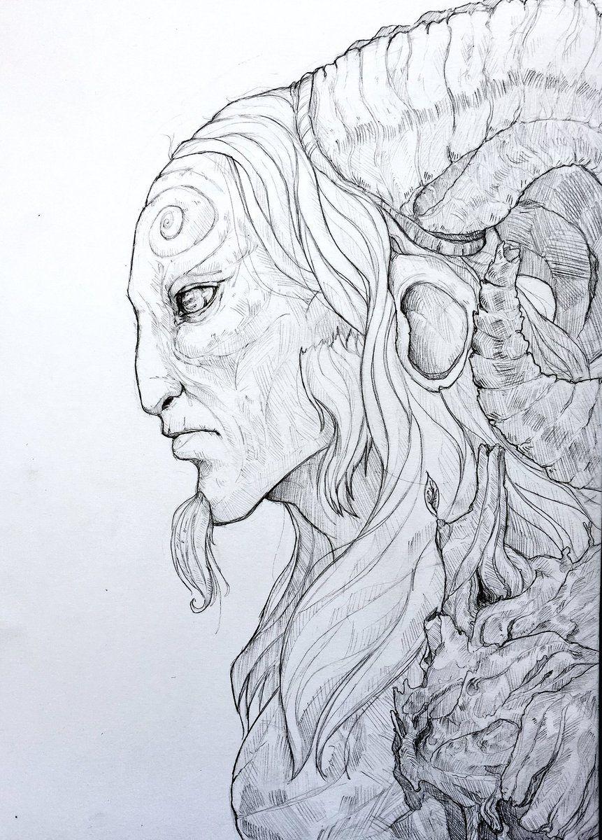 Free Pencil Sketches Of A Princess And A Faun