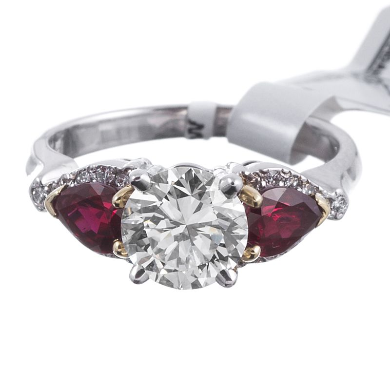 you additional and to stone diamond ruby considerations accent pear ring be rose shaped design rings stones would the a or full some engagement like is halo durham appear whether how centre