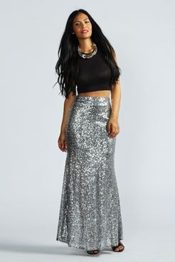 762233aee Madeline All Over Sequin Maxi Skirt at boohoo.com | Outfits and ...