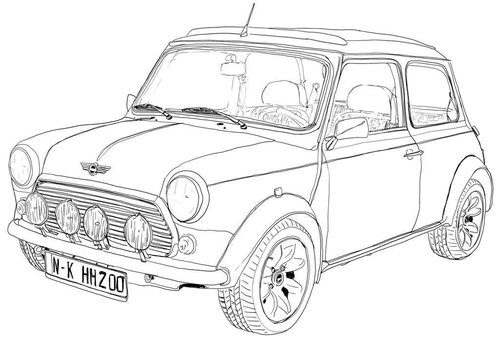 Classic Mini Cooper Digital Image Sheet SooArt zeigen