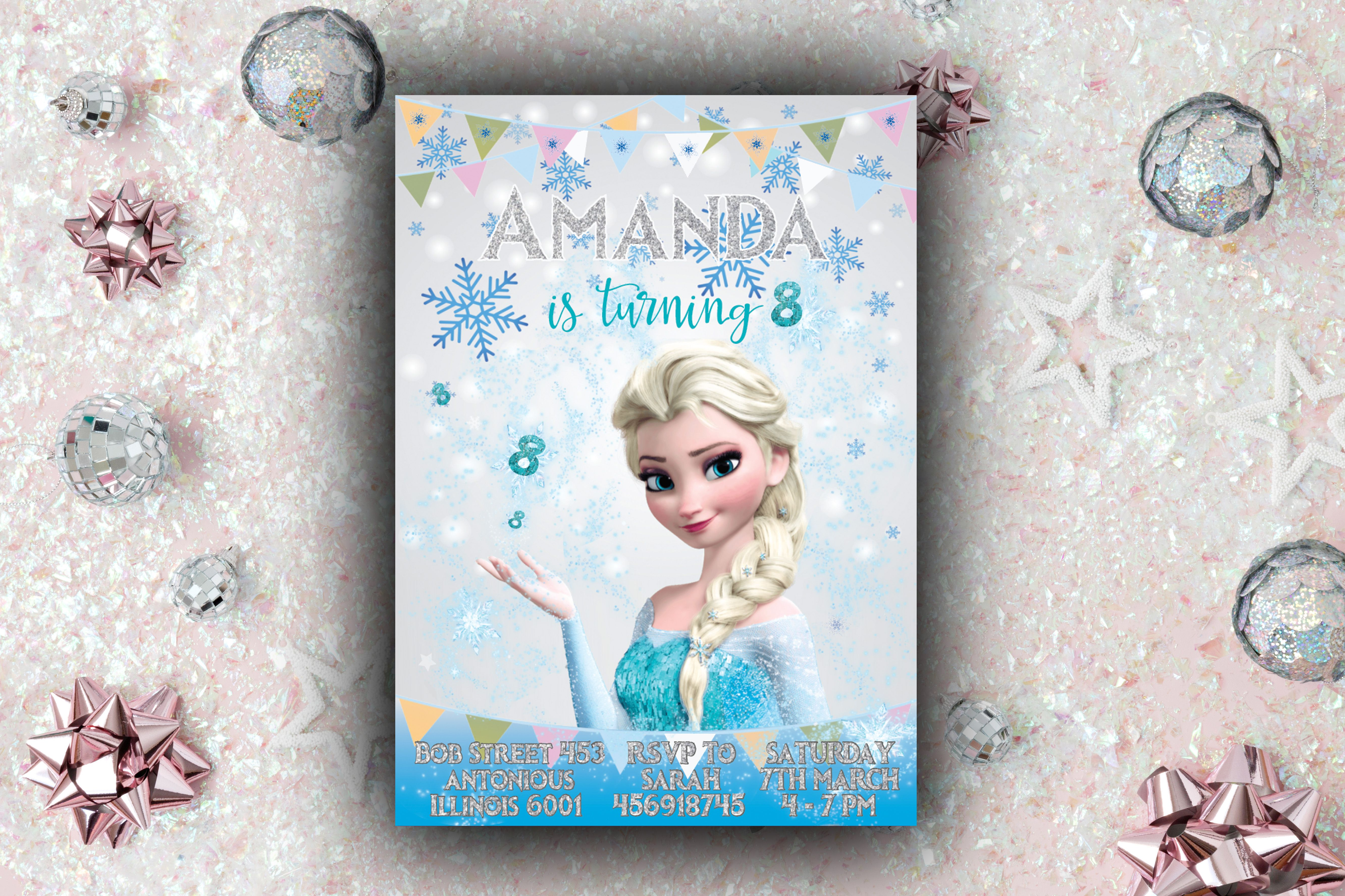 Frozen Invitation Frozen Birthday Invitation Frozen Party Frozen