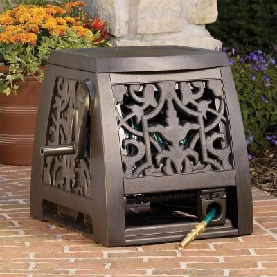 Ames Decorative Hose Reel Box 2391375nl At The Home Depot Garden Storage