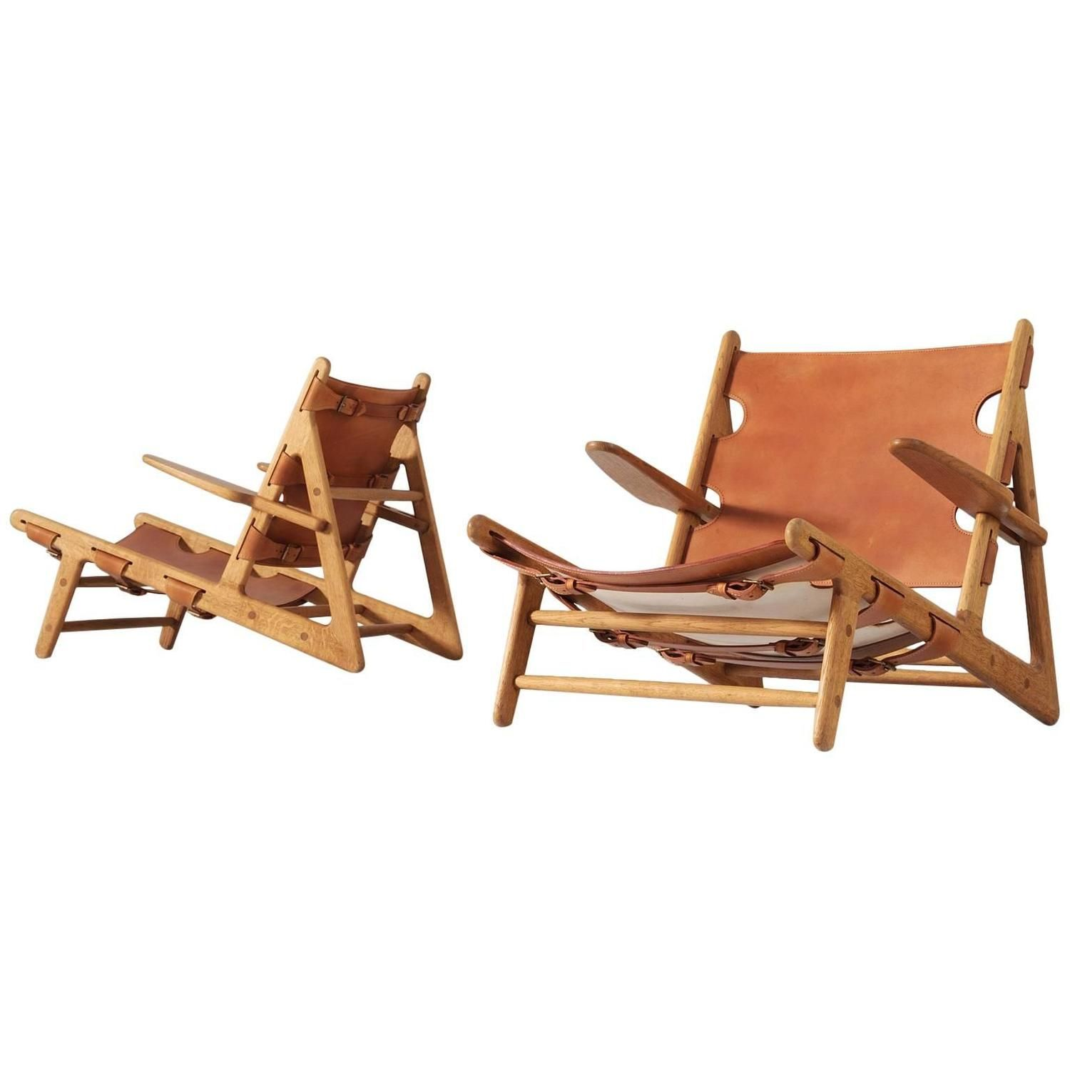 B¸rge Mogensen Pair of Hunting Chairs