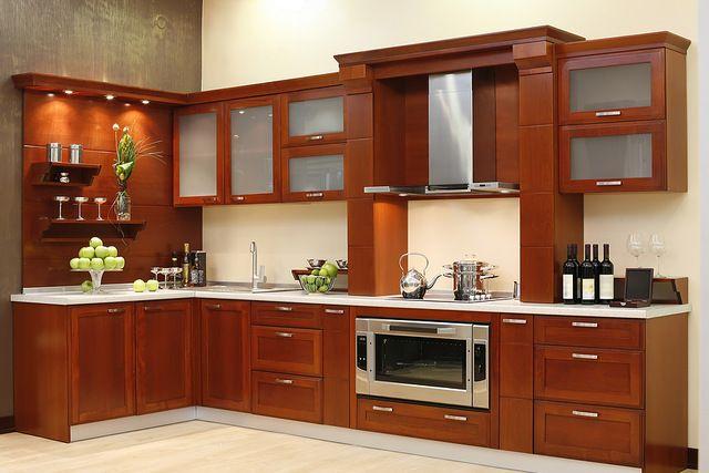 Por encargo de madera sólida gabinete de cocina ( AGK-114 ) cosina