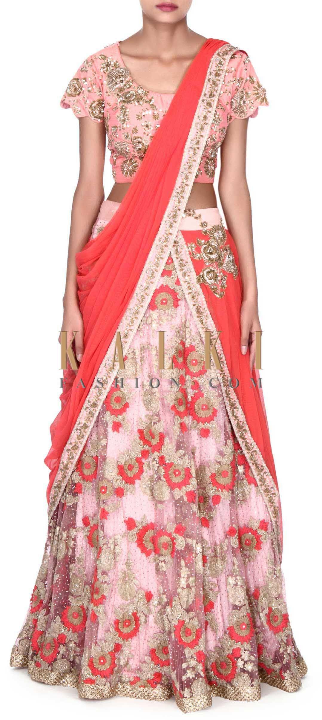 Buy this Pink lehenga enhanced in attach dupatta only on Kalki