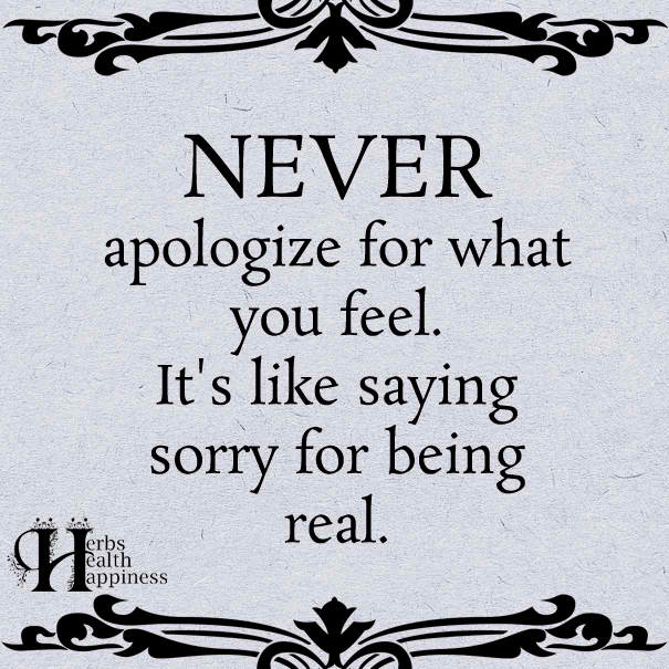 Never Apologize For What You Feel Apologizing Quotes How Are You Feeling Apology Quotes For Him