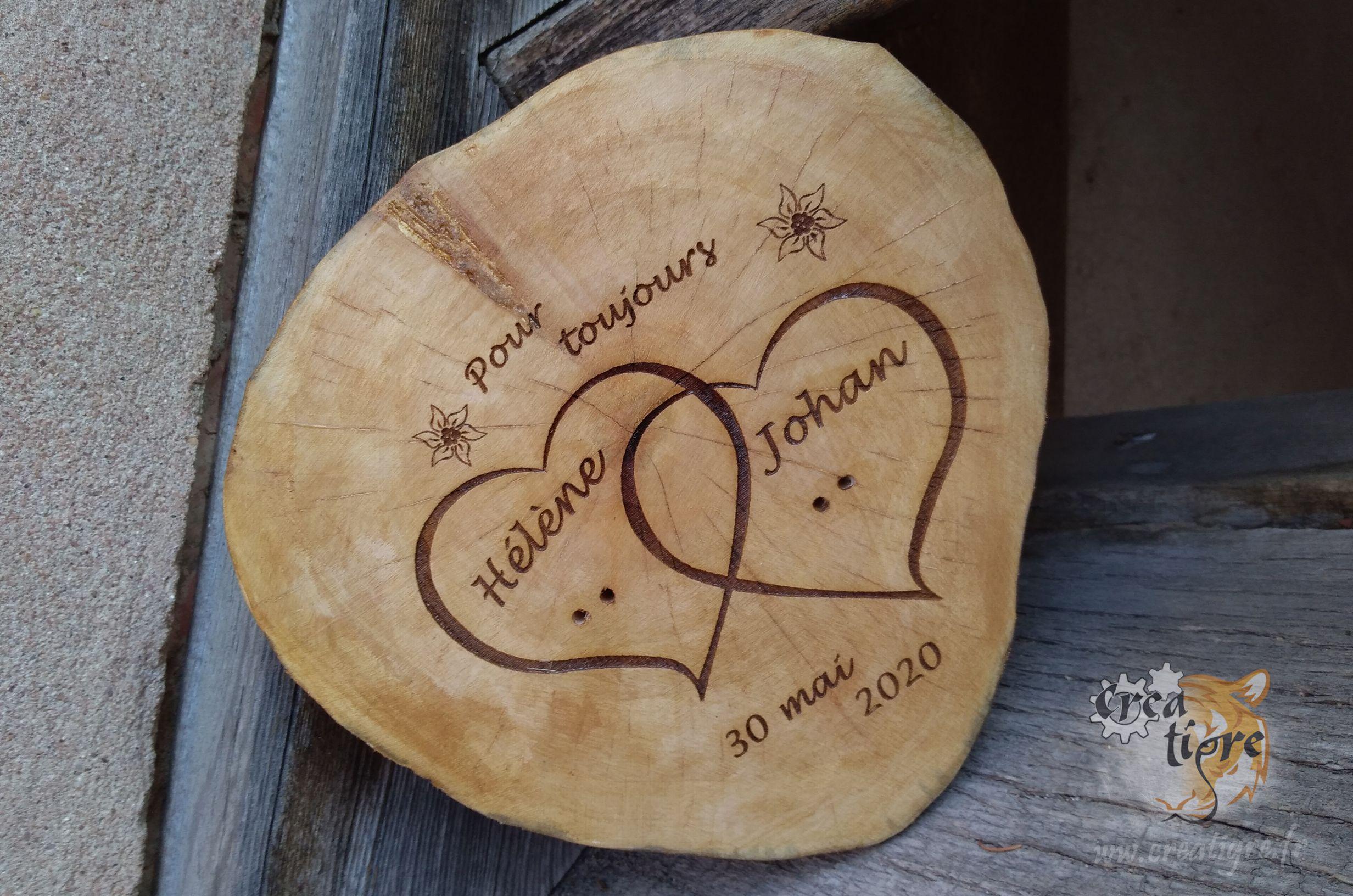 Onwomania Porte-cl/és en Bois Fait Main Ange Messager c/éleste avec Coeur Volant
