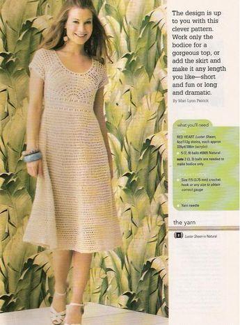 Free Crochet Pattern Women Dress Crafts For Summer Charming Dress