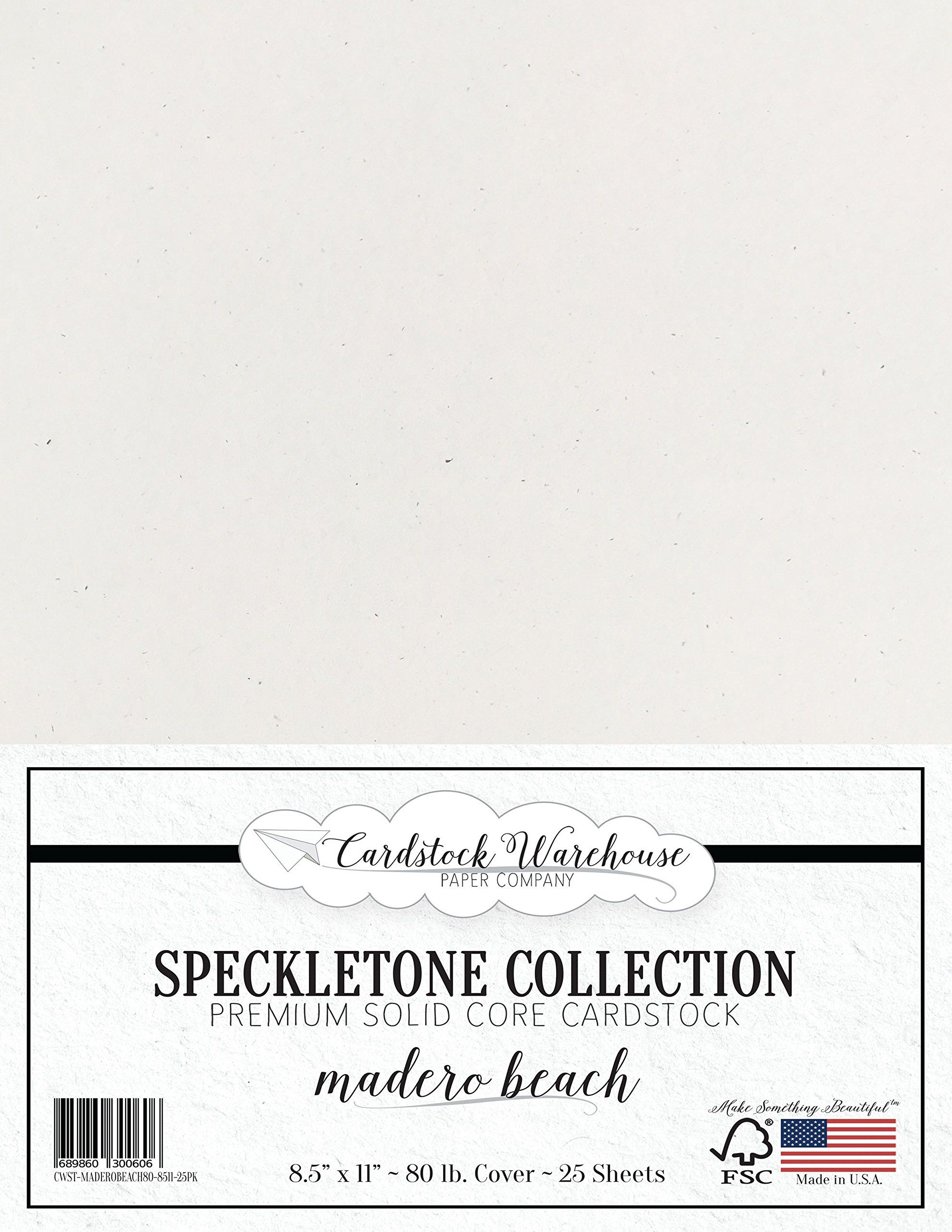Madero Beach White Speckletone Recycled Cardstock Paper 8 5 X 11 Inch Premium 80 Lb Cover 25 Sheets Recycled Cardstock Cardstock Paper Stationery Craft